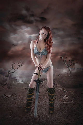 RED SONJA BIRTH OF SHE DEVIL #1 COSPLAY VIRGIN INCV
