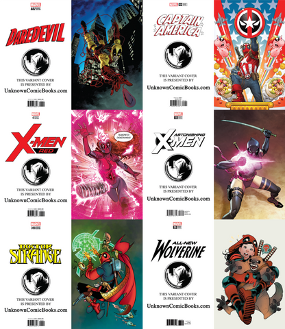 DEADPOOL VARIANT VIRGIN UNKNOWN COVERS 10 PACK BUNDLE