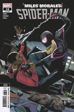 MILES MORALES SPIDER-MAN #18 2ND PTG CARNERO VAR OUT