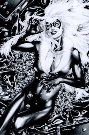 BLACK CAT #1 JAY ANACLETO UNKNOWN EXCLUSIVE B&W COVER