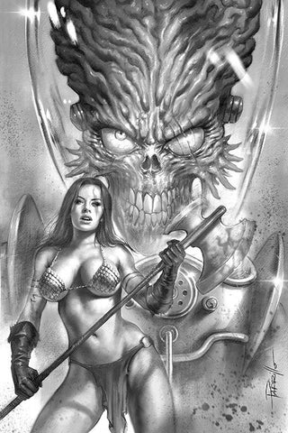 MARS ATTACKS RED SONJA #1 PARRILLO B&W VIRGIN INCV