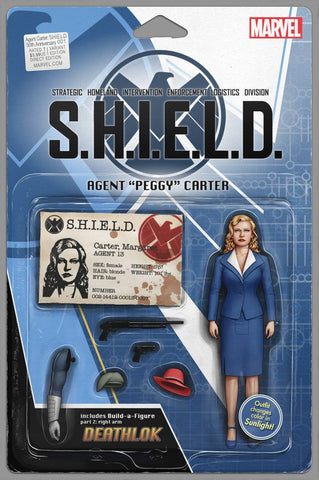 AGENT CARTER SHIELD 50TH ANNIV #1 ACTION FIGURE VAR