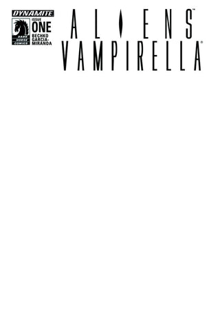 ALIENS VAMPIRELLA #1 (OF 6) CVR B BLANK AUTHENTIX