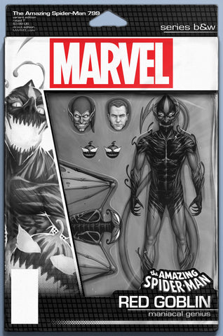 AMAZING SPIDER-MAN #799 LEG COMICXPOSURE JTC B&W ACTION FIGURE VARIANT