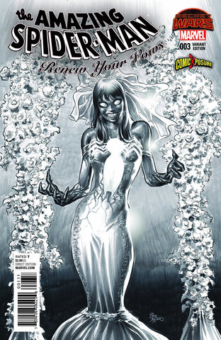AMAZING SPIDER-MAN RENEW YOUR VOWS #3 MIKE DEODATO ( B&W )