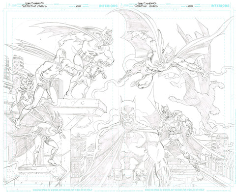 DETECTIVE COMICS #1000 DF EXCLUSIVE WRAPAROUND ART VARIANT COVER BY DAN JURGENS ULTRA LIMITED PURE PENCIL SKETCH EDITION