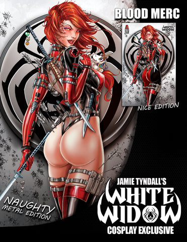WHITE WIDOW #3 JAMIE TYNDALL COSPLAY BLOOD MERC METAL EXCLUSIVE ( WITH BONUS )