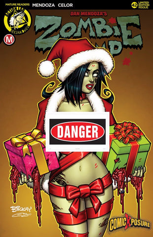 ZOMBIE TRAMP ONGOING #42 EXCLUSIVE BILL MCKAY COMICXPOSURE RISQUE HOLIDAY VARIANT