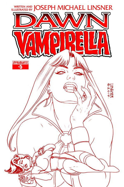 DAWN VAMPIRELLA #5 (OF 5) 25 COPY LINSNER RED INCV