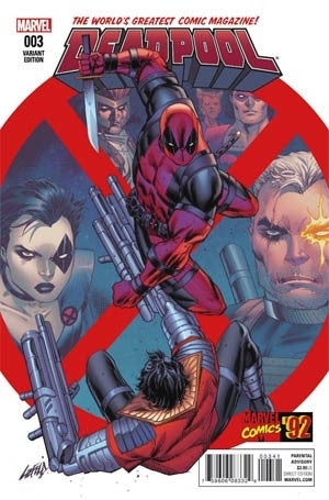 DEADPOOL #3 LIEFELD MARVEL 92 VAR
