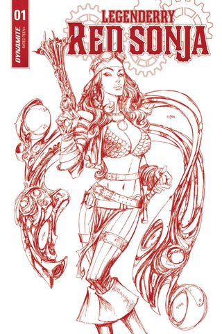 LEGENDERRY RED SONJA #1 (OF 5) CVR D 25 COPY RED ART INCV