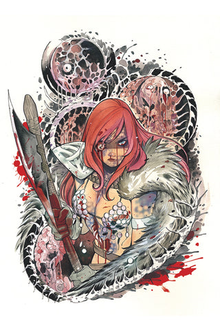 DIE!NAMITE #1 PEACH MOMOKO ZOMBIE VIRGIN RED SONJA LIMITED VARIANT