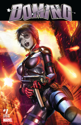 DOMINO #1 GREG HORN COMICXPOSURE EXCLUSIVE