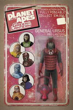 PLANET OF APES GREEN LANTERN #3 UNLOCK ACTION FIGURE VAR