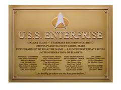 STAR TREK DEDICATION PLAQUE #4 USS ENTERPRISE D (C: 0-1-2)