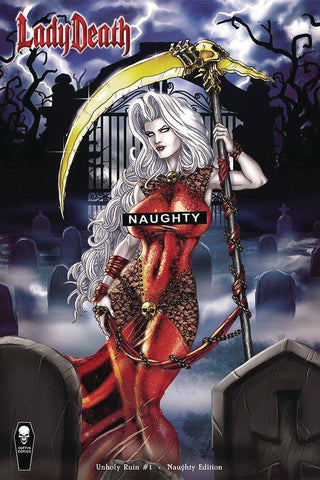 LADY DEATH UNHOLY RUIN #1 NAUGHTY VAR (MR)