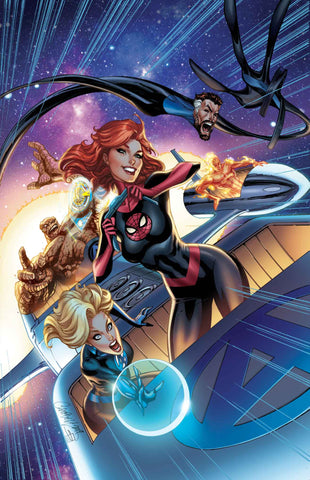 FANTASTIC FOUR #15 NYCC J SCOTT CAMPBELL MARY JANE VIRGIN EXCLUSIVE