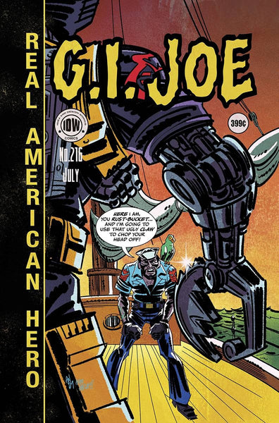 GI JOE A REAL AMERICAN HERO #216 EC SUBSCRIPTION VAR