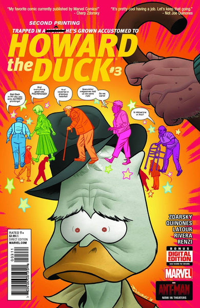 HOWARD THE DUCK #3 QUINONES 2ND PTG VAR