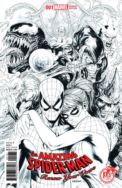 AMAZING SPIDERMAN RENEW YOUR VOWS VOL 2 #1 KRS B&W VARIANT
