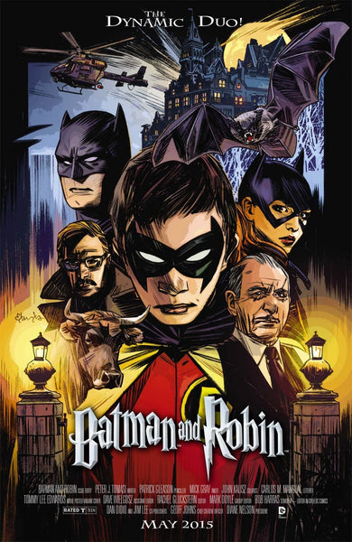 BATMAN AND ROBIN #40 MOVIE POSTER VAR ED
