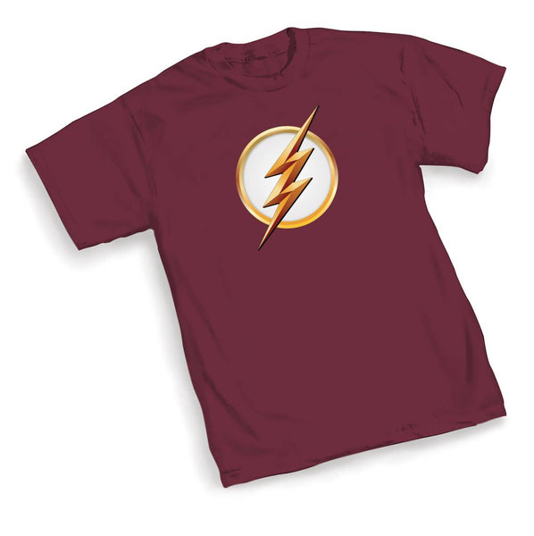 FLASH TV FLASH SYMBOL SEASON 2 MENS MAROON T-SHIRT BUNDLE (C