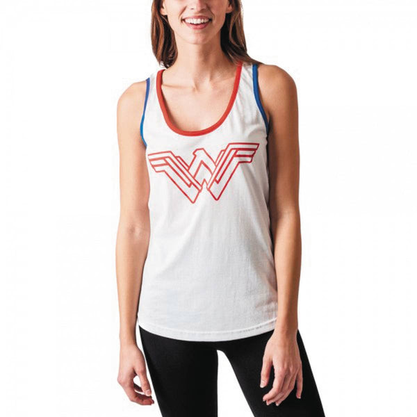 DC MOVIE WONDER WOMAN JRS WARRIOR WHITE TANK LG (C: 1-1-2)