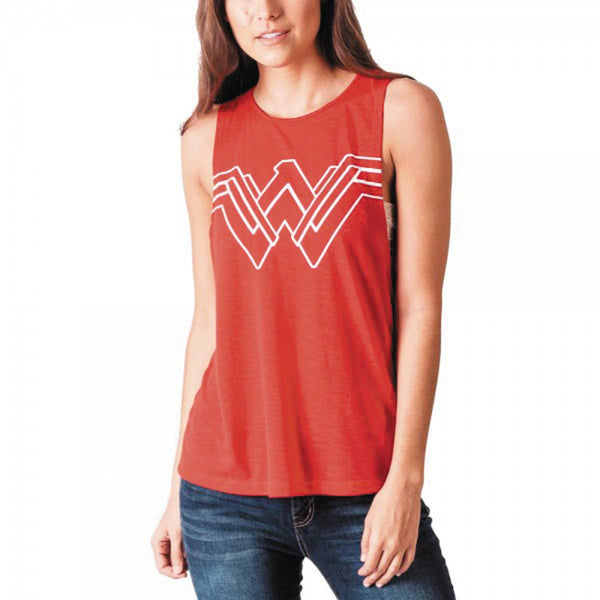 DC MOVIE WONDER WOMAN JRS CUT-OUT RED TANK LG (C: 1-1-2)