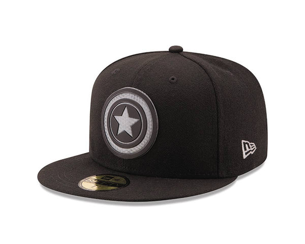 CAPTAIN AMERICA SHIELD HEXSHINE 5950 FITTED CAP 7 3/8 (C: 1-