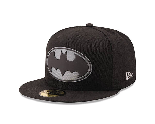 BATMAN LOGO HEXSHINE 5950 FITTED CAP 7 3/8 (C: 1-1-2)