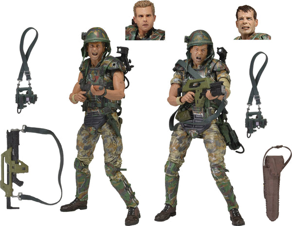 ALIENS COLONIAL MARINES 30TH ANNIVERSARY 7IN SCALE AF 2PK (C