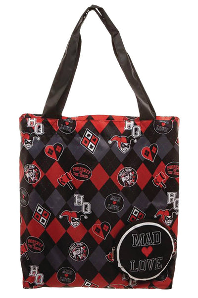 DC BATMAN HARLEY QUINN MAD LOVE PACKABLE TOTE (C: 1-1-2)