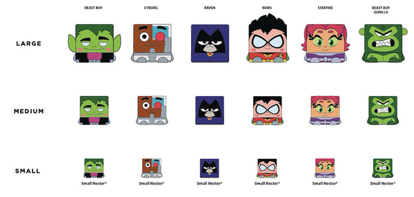 KAWAII CUBES TEEN TITANS GO NESTERZ 36PC BMB DS (C: 1-1-2)