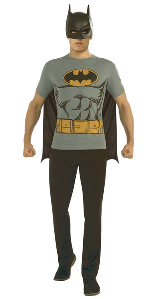 DC BATMAN T/S W/ MASK & CAPE MED (C: 1-0-2)