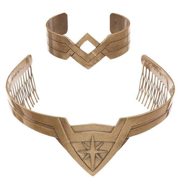 DC WONDER WOMAN MOVIE TIARA & BRACELET COSPLAY SET (C: 1-1-2