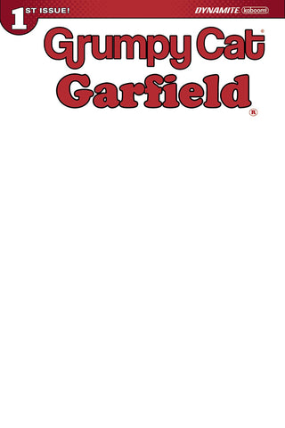 GRUMPY CAT GARFIELD #1 (OF 3) CVR J BLANK AUTHENTIX ED