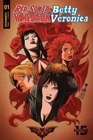 RED SONJA VAMPIRELLA BETTY VERONICA #1 CVR B FRANCAVILLA