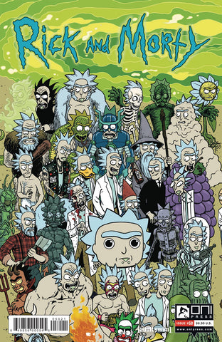 RICK & MORTY #50 CVR B HORAK RICK CONNECTING