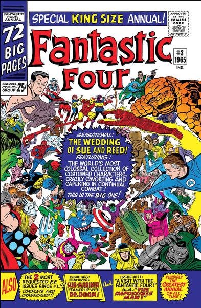 TRUE BELIEVERS FANTASTIC FOUR WEDDING REED AND SUE #1