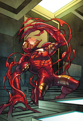 TONY STARK IRON MAN #14 FERRY CARNAGE-IZED VAR
