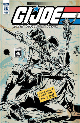 GI JOE A REAL AMERICAN HERO #247 CVR B ARTIST ED GALLANT