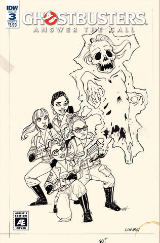 GHOSTBUSTERS ANSWER THE CALL #3 CVR B ARTIST ED HICKMAN