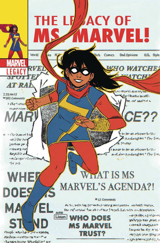 MS MARVEL #25 WYATT LH VAR LEG WAVE 3