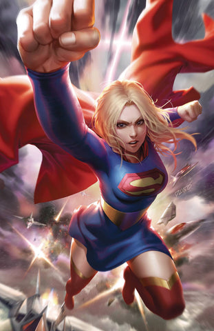 SUPERGIRL #37 DERRICK CHEW CARD STOCK VAR ED
