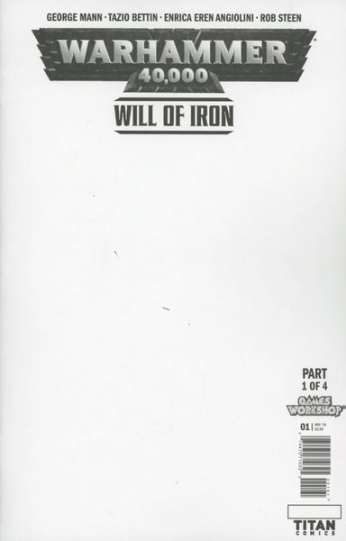 WARHAMMER 40000 WILL OF IRON #1 (OF 4) CVR F BLANK