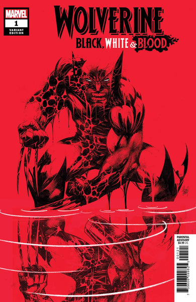 WOLVERINE BLACK WHITE BLOOD #1 (OF 4) KUBERT VAR