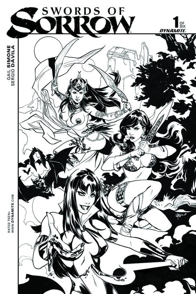 SWORDS OF SORROW #1 1:40 LUPACCHINO B&W INCENTIVE