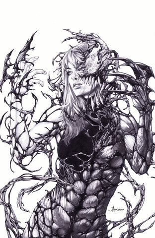 SYMBIOTE SPIDER-MAN #1 JAY ANACLETO B&W EXCLUSIVE VARIANT