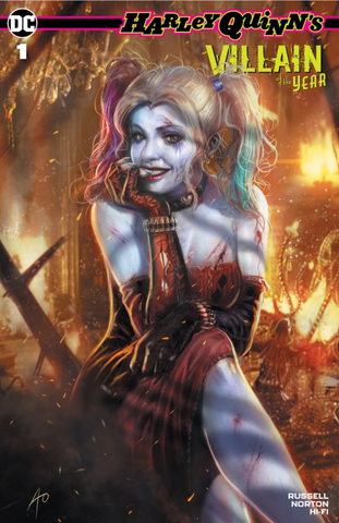 HARLEY QUINN VILLAIN OF THE YEAR #1 RUDY AO MARILYN MONROE HOMAGE VARIANT