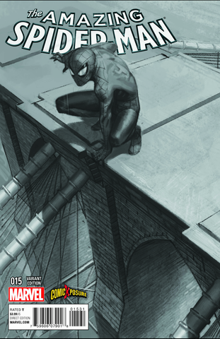 Amazing Spider-Man #15 Exclusive B&W Connecting Variant